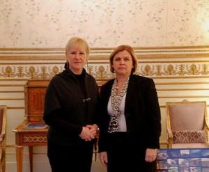 nastupna posjet kod ministrice vanjskih poslova Kraljevine Švedske Margot Wallström